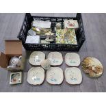Six 'Circus' pattern Beswick tea plates, beatrix potter teaware by Reutter Porzellan, Royal