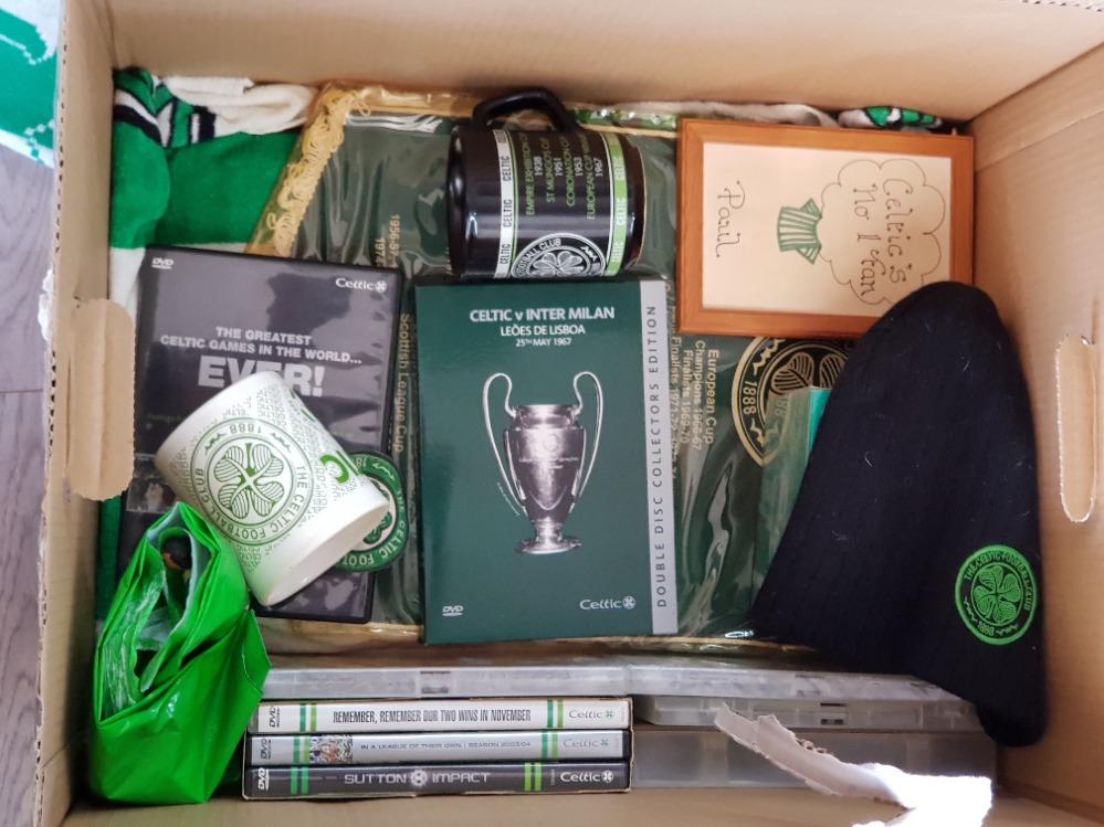 A large Quantity of Celtic football club Memorabilia including scarfs, mugs, Peter tankard etc - Image 3 of 3