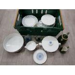 Rosenthal dinnerware, two Mdina style jug and bowl, Apilco jugs.