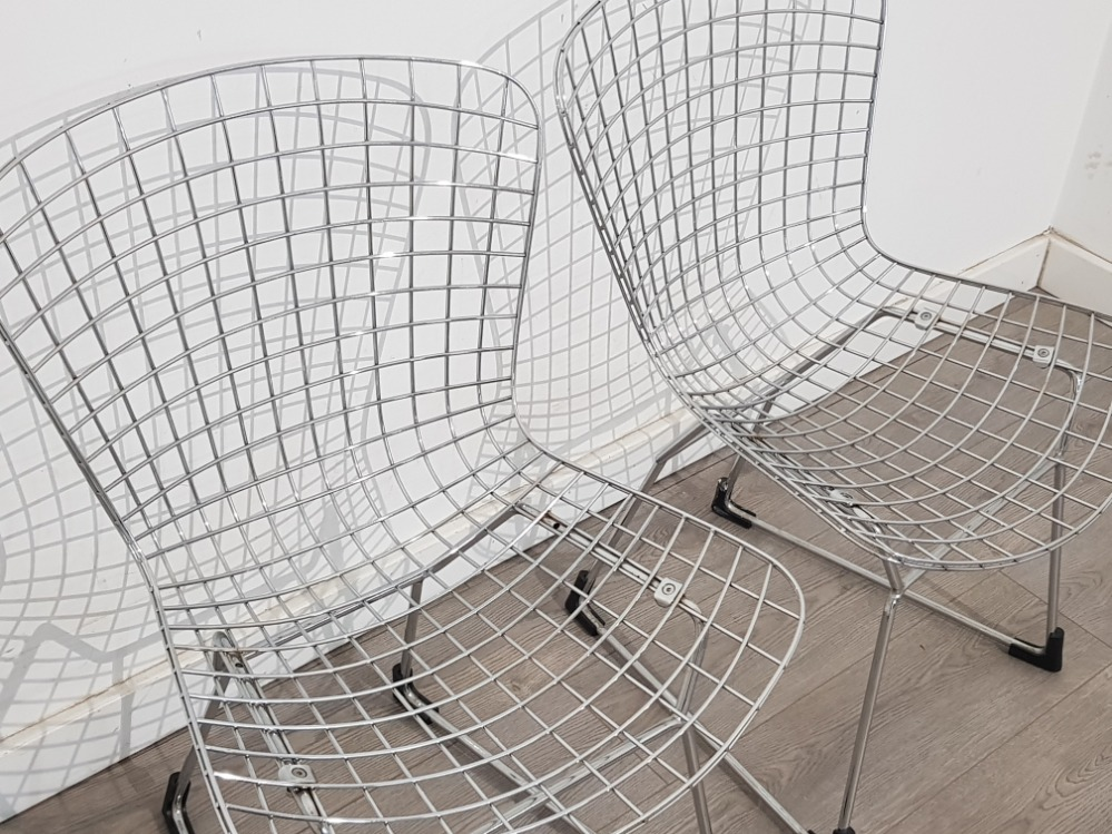 Pair of metal wire chairs - Image 2 of 2