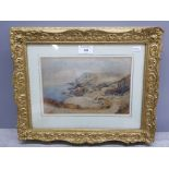 A Victorian watercolour attributed to John Ritchie (RA) 'A Guernsey Bay' C1880, inscriptions verso