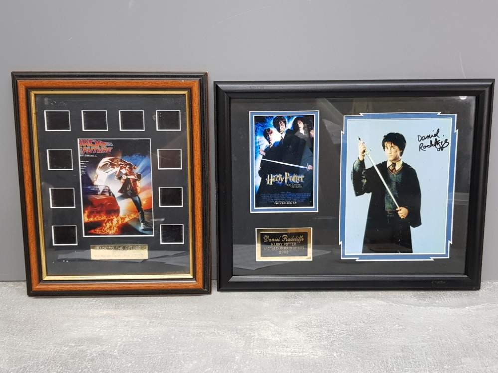 Harry Potter and the chamber of secrets 2002 Daniel Radcliffe signed movie memorabilia and Back to