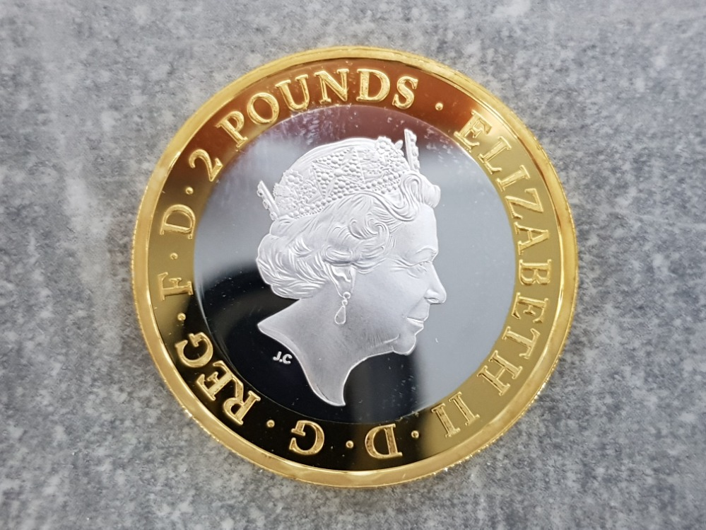 Royal mint 200th anniversary of the publication of Frankenstein 2018 UK £2 silver proof coin with - Image 2 of 3