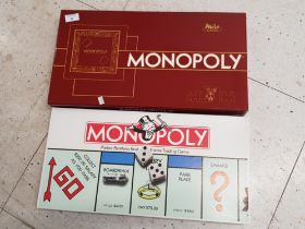 2 vintage Monopoly boardgames, American and limited edition French version