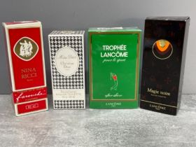 4 x perfumes and aftershaves including Christian Dior