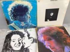Bundle of records mainly Bob Dylan and Leonard Cohen