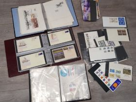 Box of vintage Royal Mail First day covers, 3 albums and loose