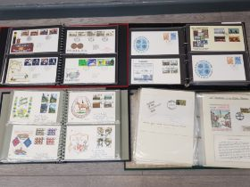 4 albums full of vintage first day covers, Guernsey, Novelty etc