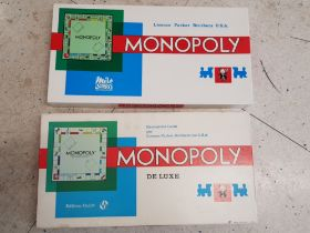 2 vintage Monopoly boardgames, France and Switzerland