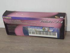 Yamaha PSR-74 electric keyboard with box