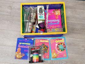 Box of vintage puzzle games