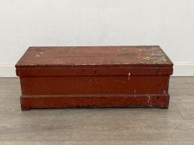 Vintage chest (88cm x 36cm x 35cms)