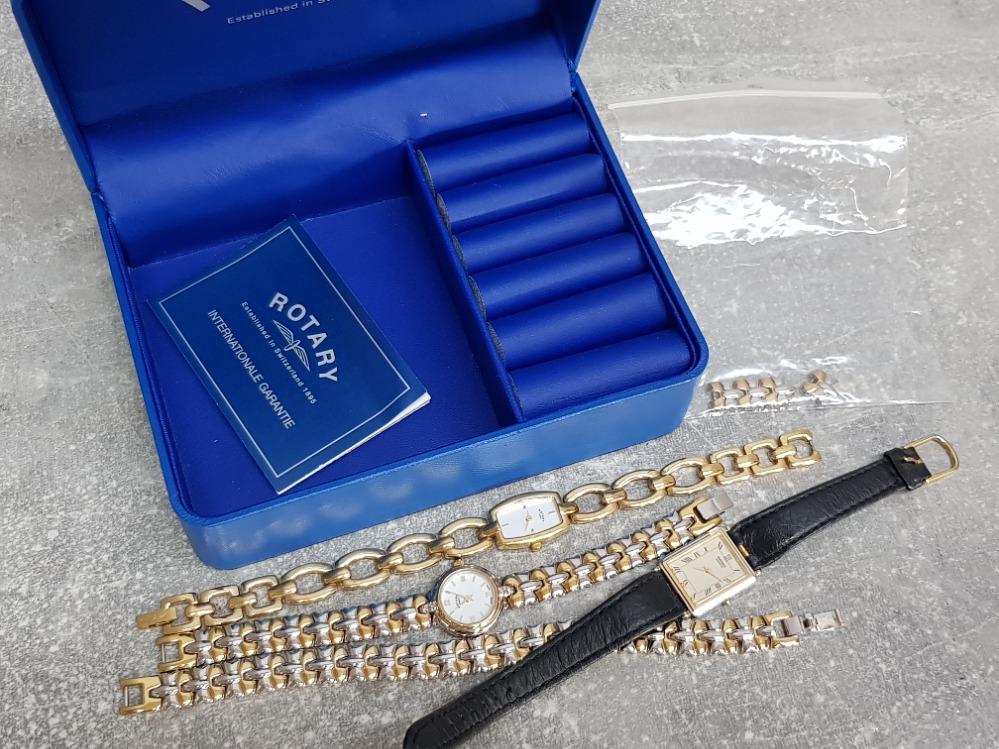 Rotary watch and matching bracele, Seiko watch and gold plated Rotary watch