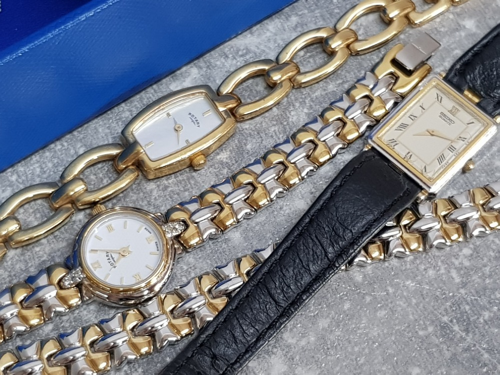 Rotary watch and matching bracele, Seiko watch and gold plated Rotary watch - Image 2 of 2