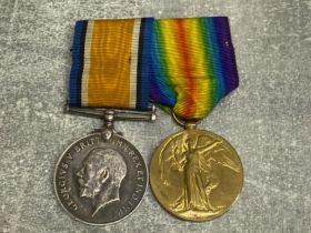 2 WW1 medals the Great War for civilisation and silver George V British war medal, dated 1914-