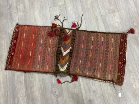 Antique Afghan Baluch double camel bag, 127x53cm