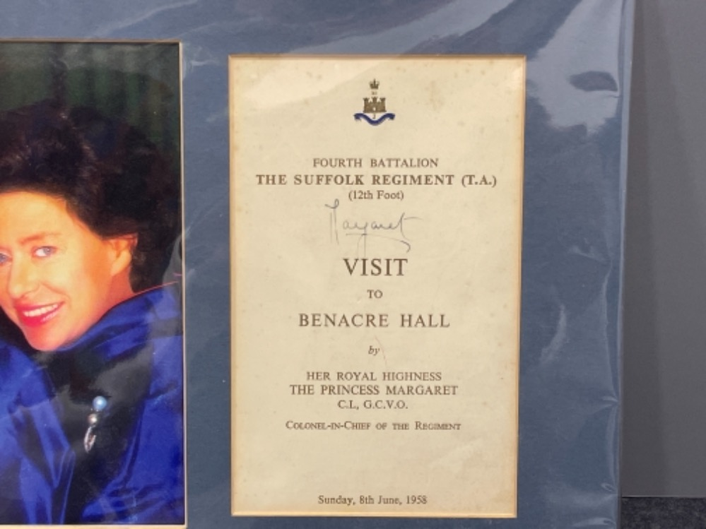 Autographs - Royalty. Matted display of Queen mother and 2 Daughters Elizabeth and Margaret together - Image 3 of 5