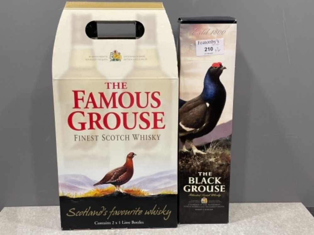 The Famous grouse scotch whisky and also the Black grouse smoky scotch whisky (Unopened) in origi
