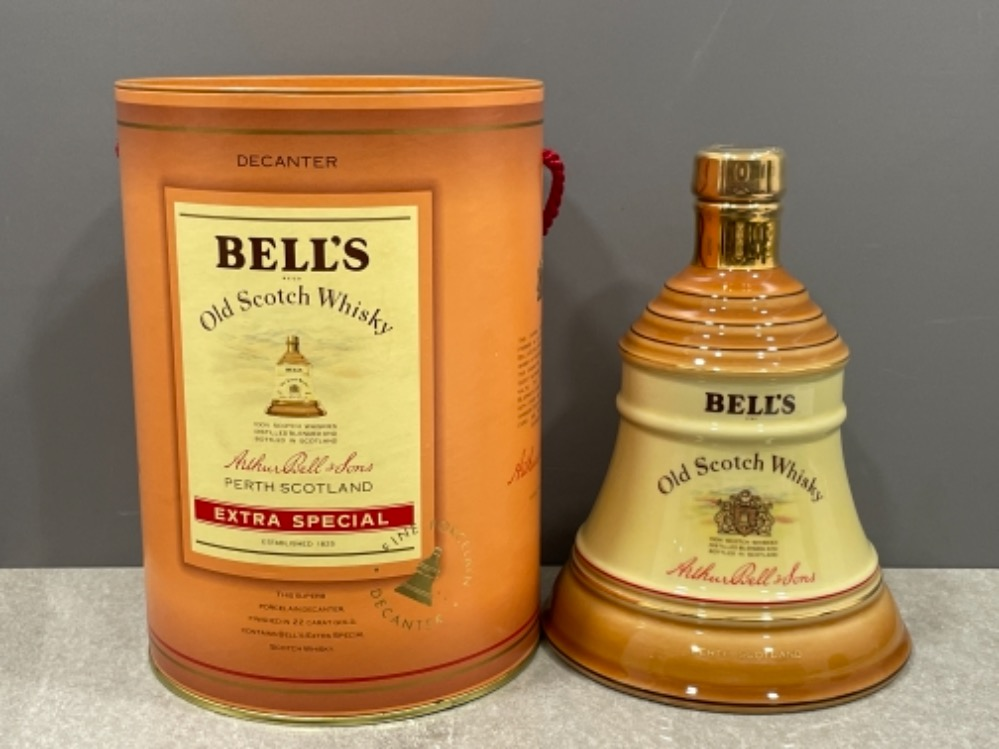 Bells old scotch whisky and decanter (Unopened) 75cl