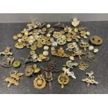 Military badges and buttons accumulation