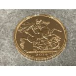 22ct gold 2014 full sovereign coin unc