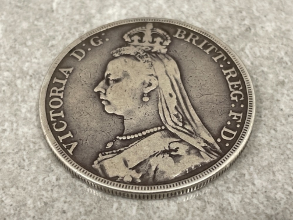 Coin - Victoria 1889 Crown - Image 2 of 2
