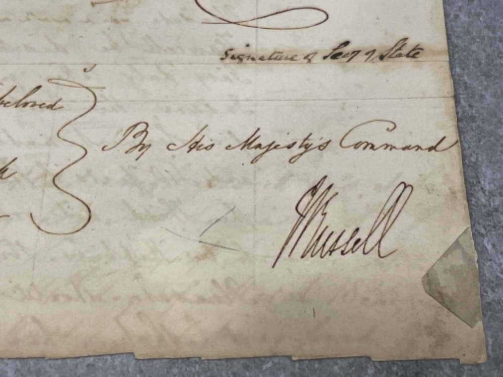 Royalty - part document dated 1835 signed by King William IV (1765-1837) - Image 5 of 5