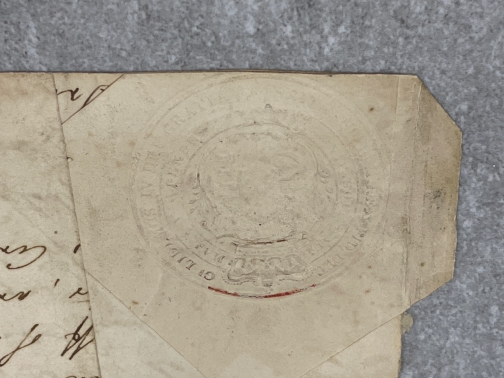 Royalty - part document dated 1835 signed by King William IV (1765-1837) - Image 3 of 5