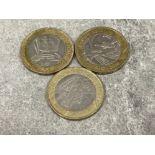 Coins £2 2008-2012 Olympics x 3