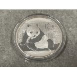 Coin China 2015 one ounce pure silver panda coin