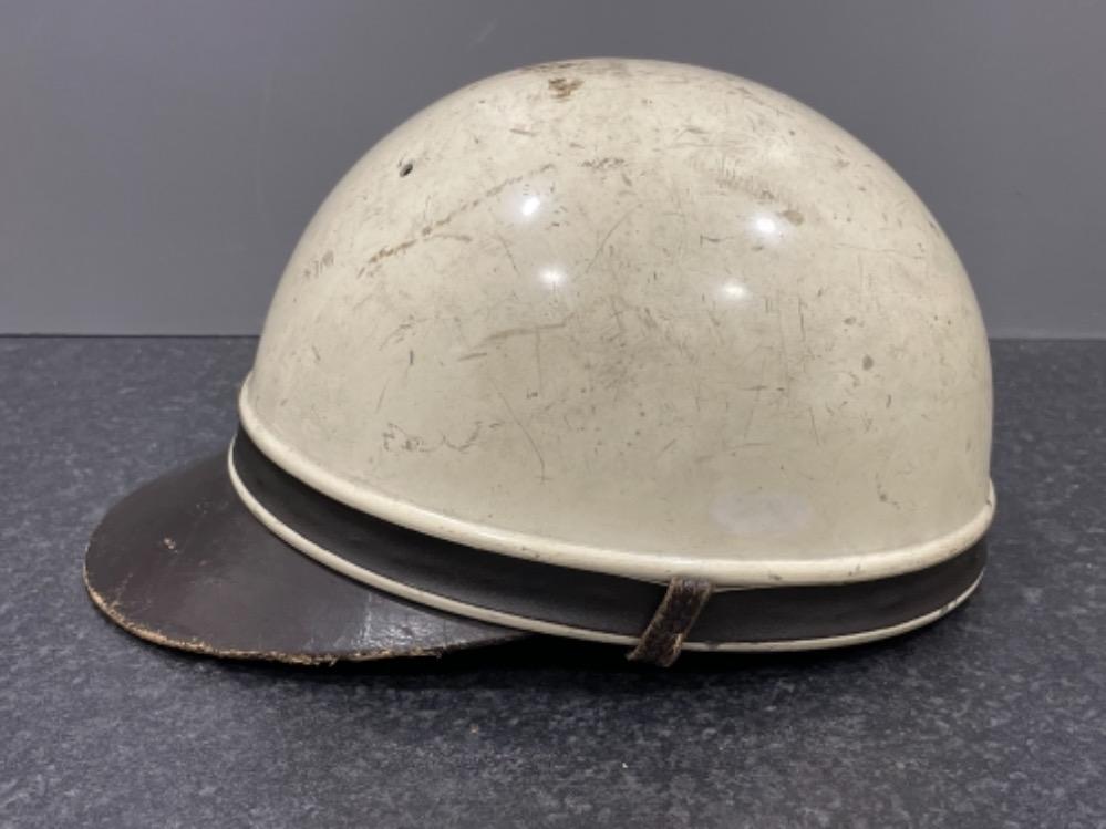 """Pair of Vintage motorcycle helmets """"Geno Paris"""" - Image 2 of 3"""