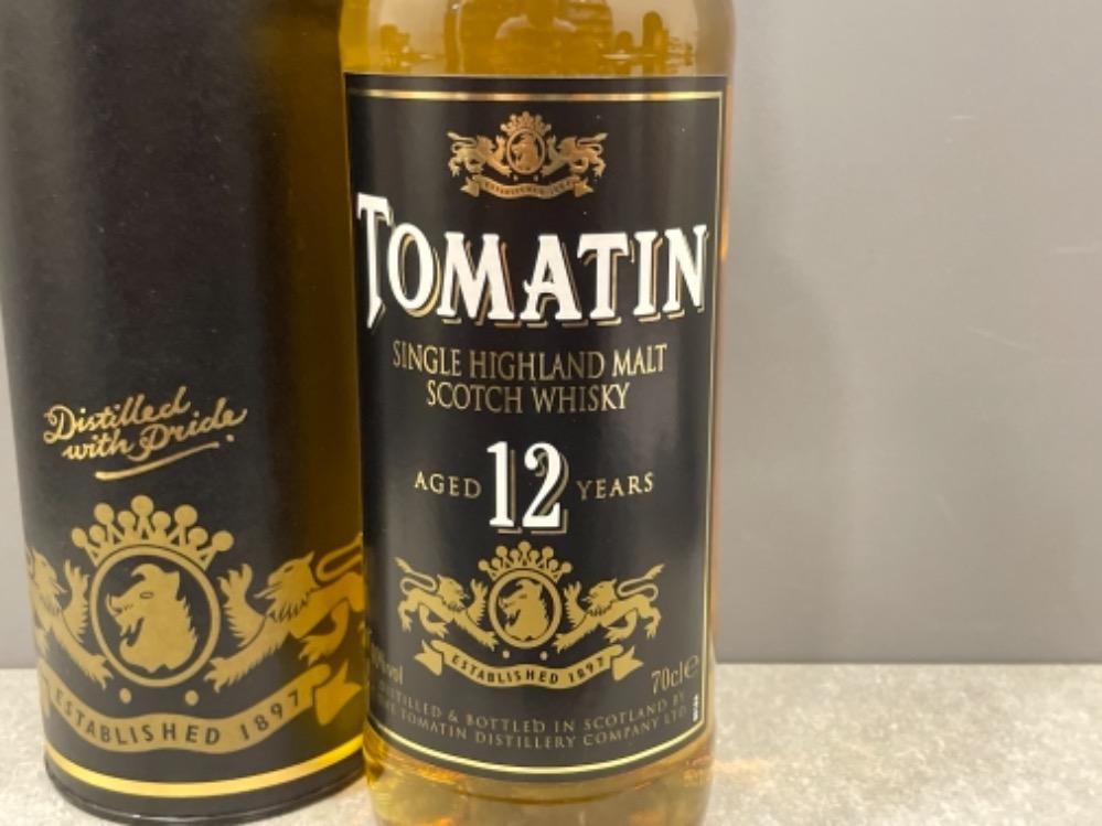 Tomatin single highland Malt scotch whisky. (Unopened & in original box) aged 12 years - Image 2 of 4