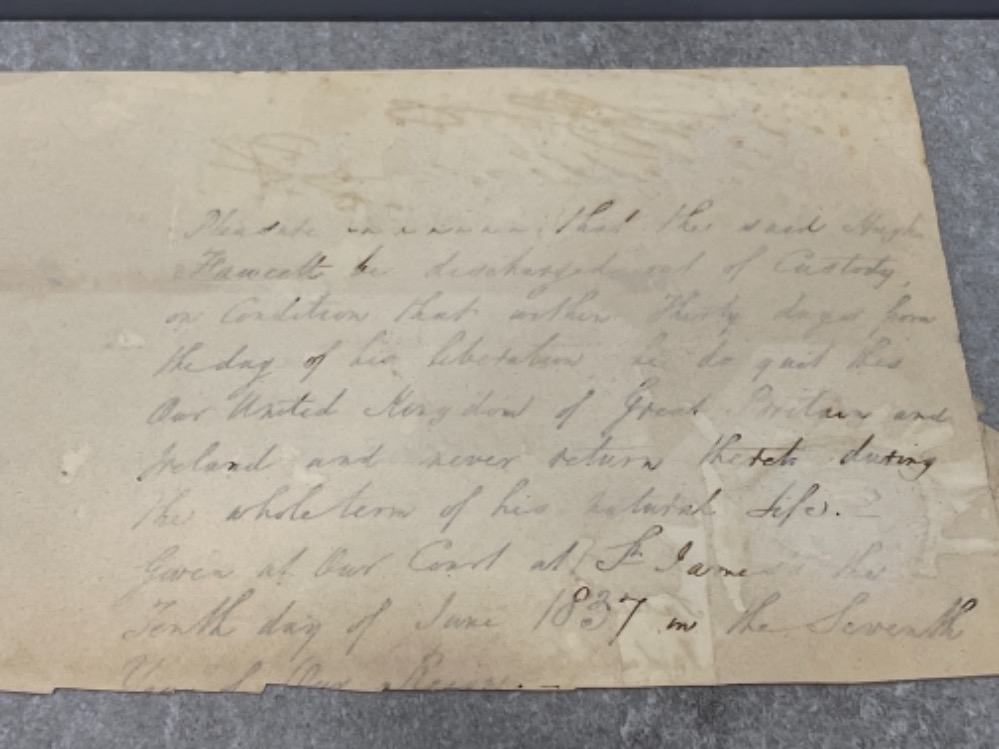 Royalty - part document dated 1835 signed by King William IV (1765-1837) - Image 4 of 5