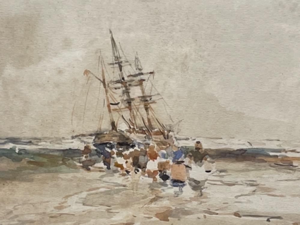 Victor Noble Rainbird 1887-1936 watercolour costal scene - Image 2 of 3