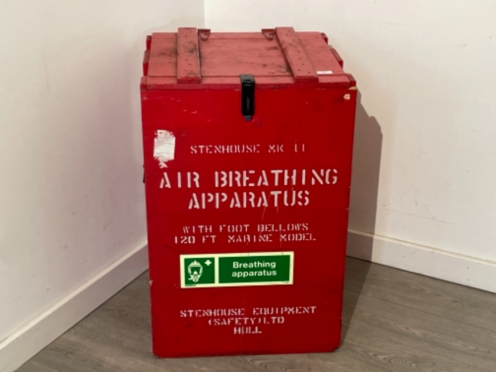 Air breathing apparatus box complete with equipment off Tug boat.