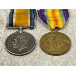 Medals WWI pair, silver and victory medals awarded to Pte T. Rees Liverpool Reg 74809