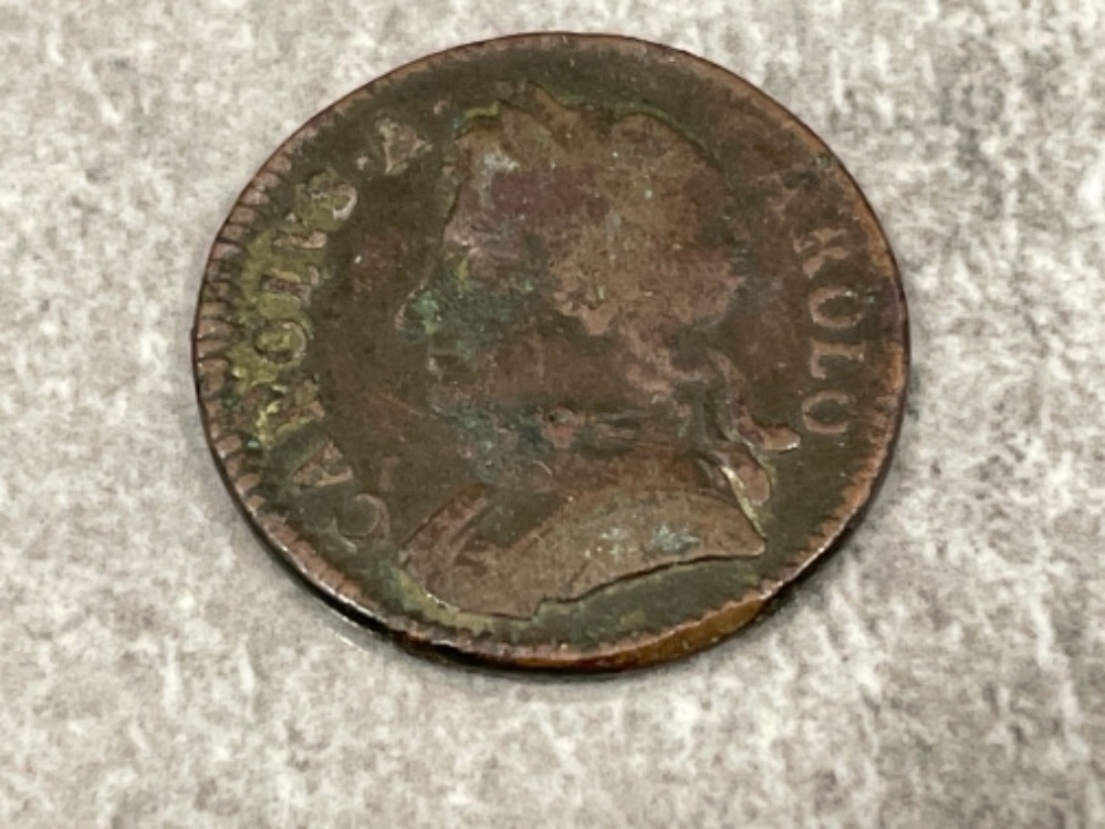 Coins Charles II Farting coin dated 1672