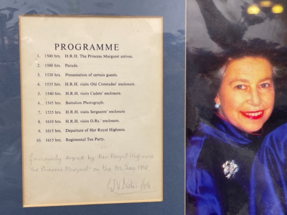 Autographs - Royalty. Matted display of Queen mother and 2 Daughters Elizabeth and Margaret together - Image 5 of 5