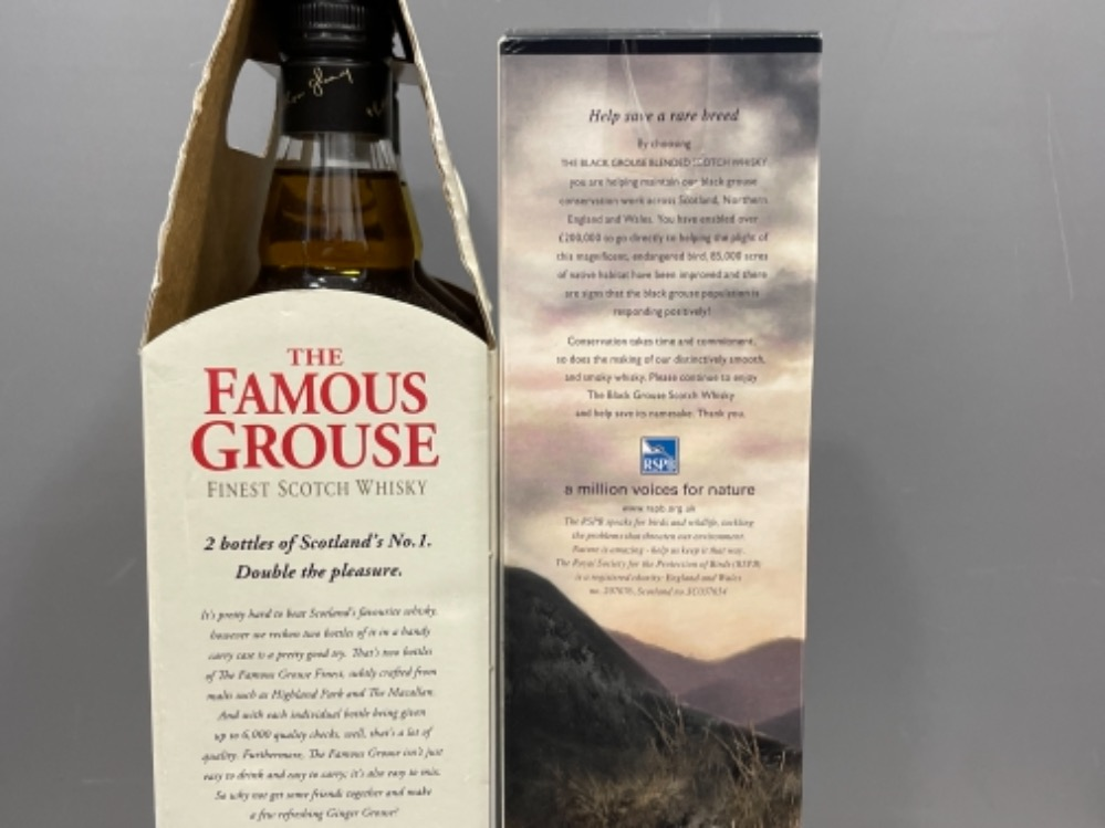 The Famous grouse scotch whisky and also the Black grouse smoky scotch whisky (Unopened) in origi - Image 3 of 3