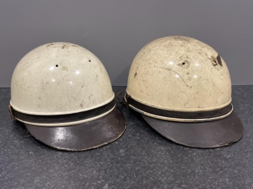 """Pair of Vintage motorcycle helmets """"Geno Paris"""""""