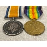 Medals WWI pair, silver and victory medals awarded to Pte A.G. Morgan Royal Fuss 37919