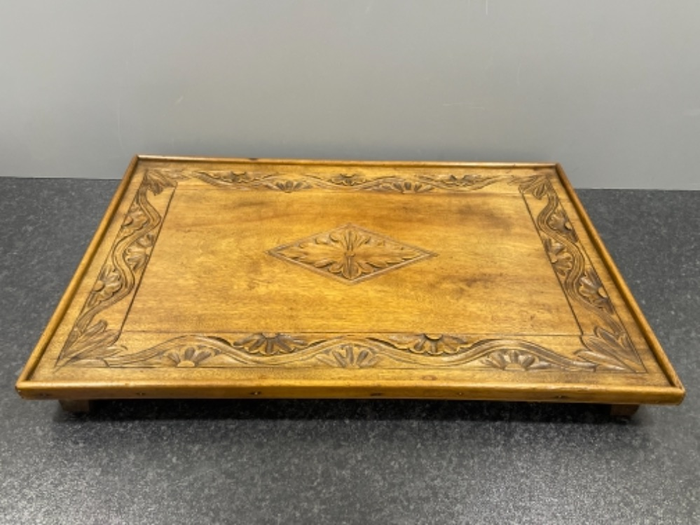Beautiful carved Oak tray