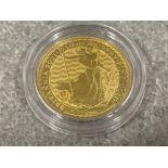 2021 gold Quarter Brittannia .999 fine gold coin