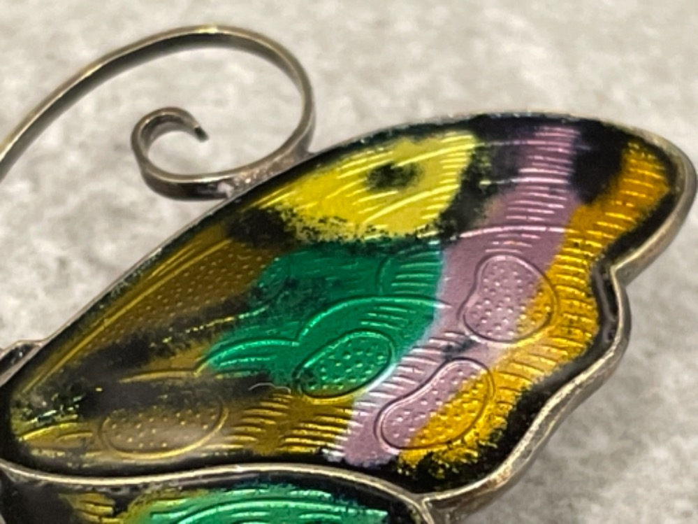 Large David Andersen sterling silver enamel Butterfly brooch. Very good vintage condition 6cms - Image 2 of 4