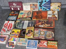 Total of 21 boxed vintage games including Only asked by Chad Valley etc