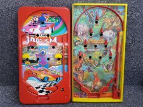 "Vintage Flipper bagatelle game ""jungle hunt"" from the dekkertoys range plus one other ""monza 1000"