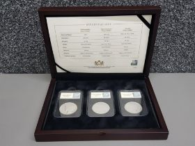 USA silver 1 Dollar 3 coin set, includes 1921 Philadelphia, 1922-34 Denver, 1922-25 San Francisco in