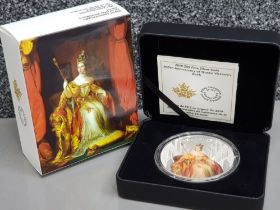 Royal Canadian mint 50 Dollars 99.99% pure silver coin, celebrating the 200th anniversary of Queen