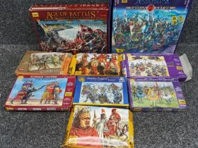 2 Age of battles box sets also includes 7 boxes of minatures by Zvezda & Hat