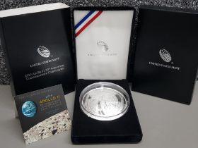 99.99% Silver proof United States Mint 2019 Apollo 11 50th anniversary commemorative 1 Dollar